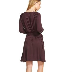 3cd0885436 Chaser Dresses - Chaser Plum Cool Jersey Wrap Dress